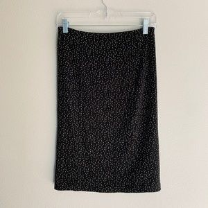 American Apparel Black Polka Dot Pencil Skirt